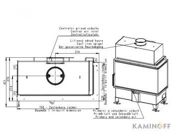 Конвекционная топка Romotop Heat RL 2g S 70.44.33.13