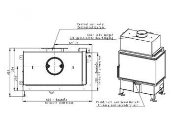 Конвекционная топка Romotop Heat RL 2g S 60.44.33.13