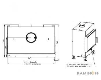 Конвекционная топка Romotop Heat 2g 70.50.01