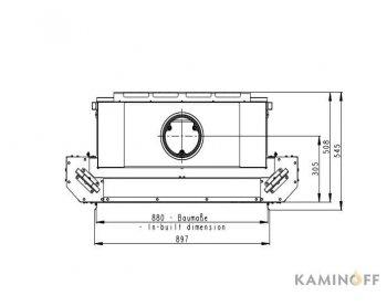 Конвекционная топка Romotop Heat 2g L 88.50.01