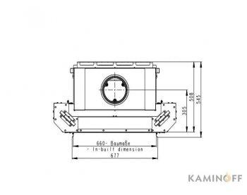 Конвекционная топка Romotop Heat 2g L 66.50.01