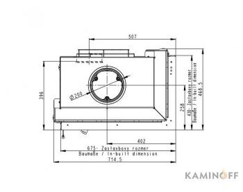 Конвекционная топка Romotop Heat R/L 2g S 65.51.40.01