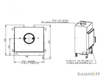 Конвекционная топка Romotop Heat 2G 42.50.01