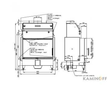 Топка с водяным контуром Romotop Heat W 2g 70.50.01