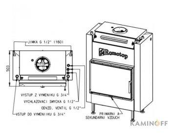 Топка з водяним контуром Romotop Dynamic KV 025 W02