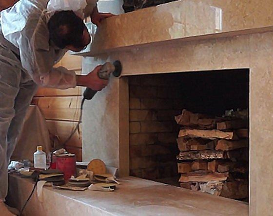 Реставрация готовых каминов