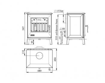 Конвекционная печь Godin Petit 388112 Cube