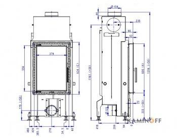 Конвекционная топка Romotop Impression 2g 42.60.01 светлый шамот