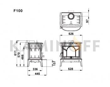 Конвекционная печь Jotul F 100 BP