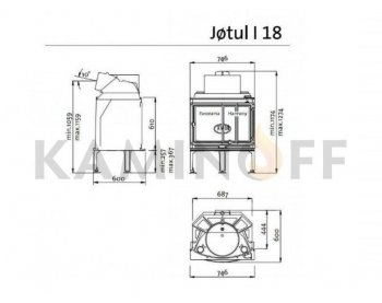 Конвекционная топка Jotul I-18 Panorama