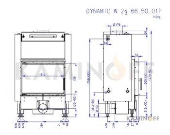 Топка с водяным контуром Romotop Dynamic W 2g 66.50.01