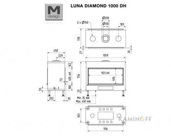 Газовая топка M-Design Luna Diamond 1000DH Gas
