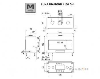 Газова камінна топка M-Design Luna Diamond 1150DH Gas