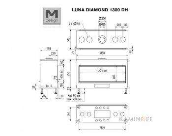 Газовая топка M-Design Luna Diamond 1300DH Gas
