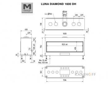 Газовая топка M-Design Luna Diamond 1600DH Gas