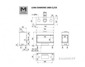 Газовая топка M-Design Luna Diamond 1000 CL/CR