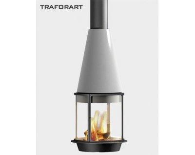 Дизайнерский камин Traforart Arlet With High Protective glass black