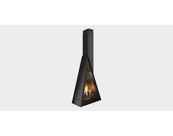 Дизайнерский камин Traforart Breda Frontal black