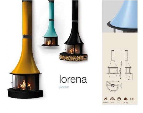 Дизайнерский камин Traforart Lorena Frontal black
