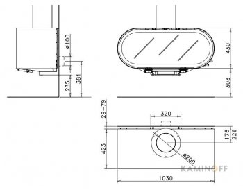 Дизайнерський камін Rocal D-8