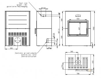 Дизайнерский камин Romotop Variant F