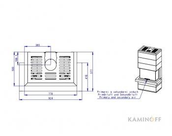 Дизайнерський камін Romotop Cara C 03
