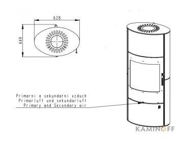 Конвекционная печь Romotop OVALIS 02 AKUM