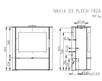 Конвекционная печь Romotop NAVIA 03