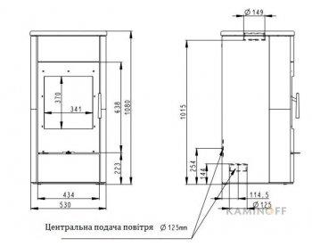 Конвекционная печь Romotop ESPERA 01 W