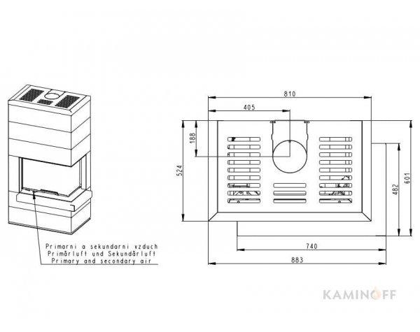 Дизайнерский камин Romotop Cara L 03