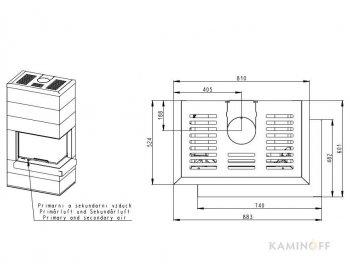 Дизайнерський камін Cara R 03