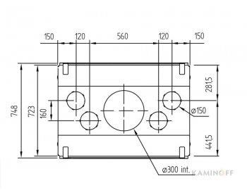 Конвекционная топка M-Design Luna 1000DV Diamond