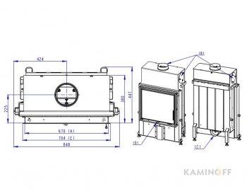 Конвекционная топка Romotop Impression 2g 67.60.01 светлый шамот