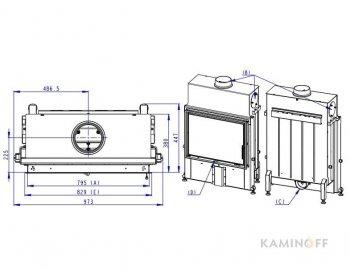 Конвекционная топка Romotop Impression 2g 80.60.01темный шамот