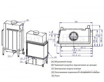 Камінна топка Romotop Impression R/L 2g S 71.60.34.21 темний