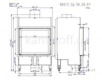 Конвекционная топка Romotop Basic 2g 59.50.01