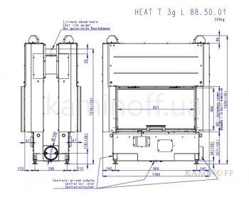 Конвекционная топка Romotop Heat T 3g L 88.50.01