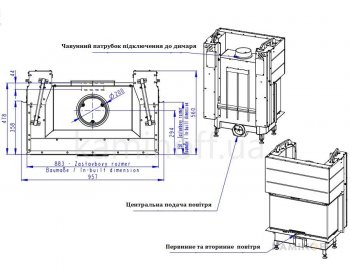 Камінна топка Romotop Heat C 3g L 80.52.31.01