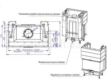 Конвекционная топка Romotop Heat C 3g L 80.52.31.21