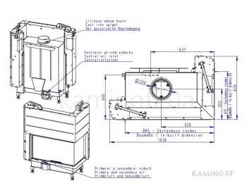 Конвекционная топка Romotop Heat R/L 3g L 81.51.40.21