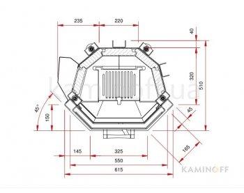 Конвекционная топка Schmid Pano 5557 h