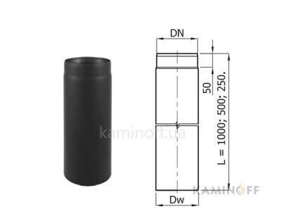 Дымоход из черной стали Darco труба 1 м