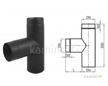 Дымоход из черной стали Darco тройник 90