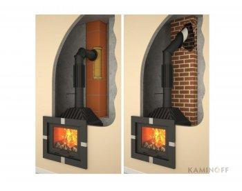 Дымоход из черной стали Darco труба-радиатор