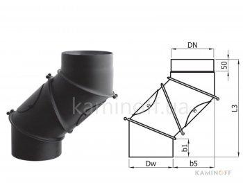 Коліно для димаря Darco регульоване 4 сегменти (2мм)
