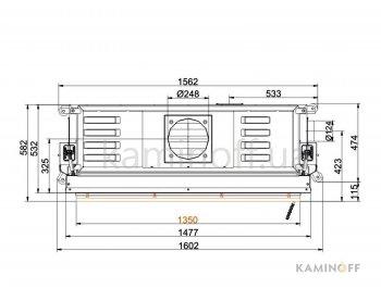 Конвекционная топка Brunner Architektur 53/135