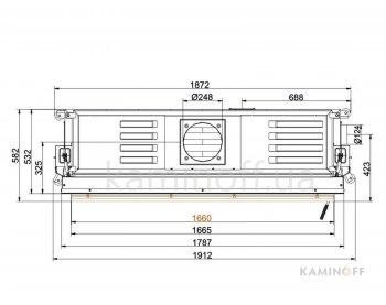 Конвекционная топка Brunner Architektur 53/166