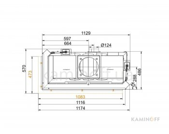 Камінна топка Brunner Architektur-Kamin Eck 45/101/40