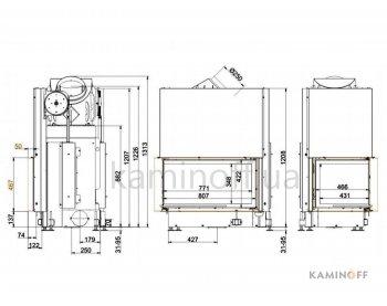 Конвекционная топка Brunner Architektur-Kamin Eck 45/82/48