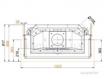 Конвекционная топка Brunner Panorama 51/25/101/25